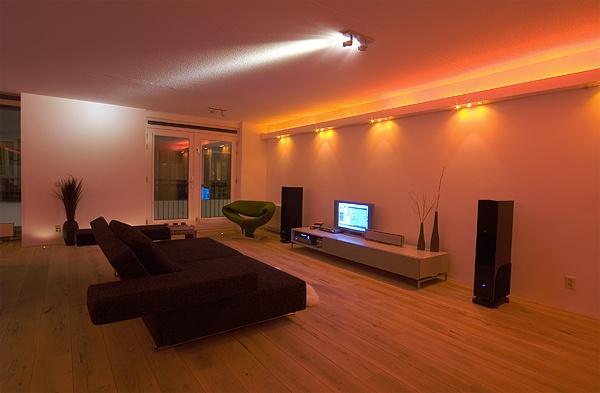 spots in de woonkamer