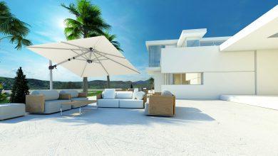 Photo of Creëer wat schaduw in je tuin of terras met een parasol